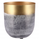 wholesale Plants & Pots: Metal bucket Deba, D15cm, H15cm, gold-black